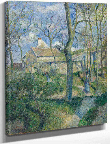 The Path To Les Pouilleux, Pontoise By Camille Pissarro By Camille Pissarro