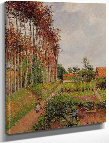 The Steading Of The Auberge Ango, Varengeville By Camille Pissarro By Camille Pissarro