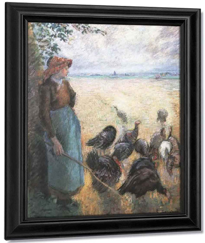 Turkey Girl By Camille Pissarro By Camille Pissarro