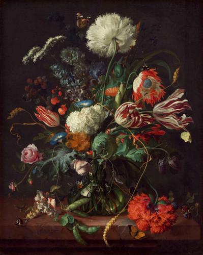 Vase Of Flowers 2 By Jan Davidszoon De Heem By Jan Davidszoon De Heem