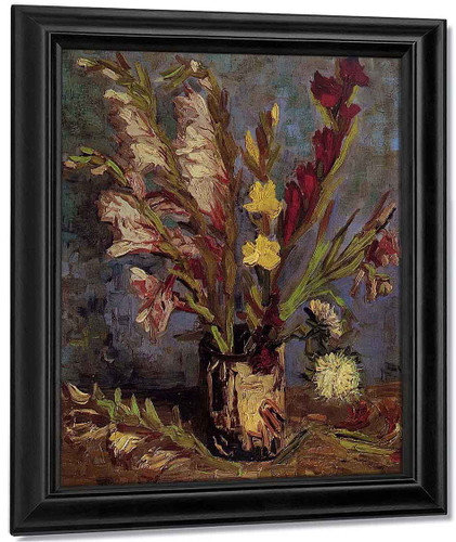 Vase With Gladioli By Jose Maria Velasco