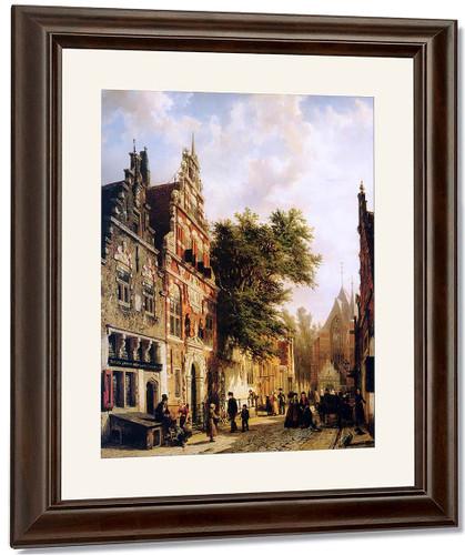 Weeshuis In Enkhuizen By Cornelius Springer