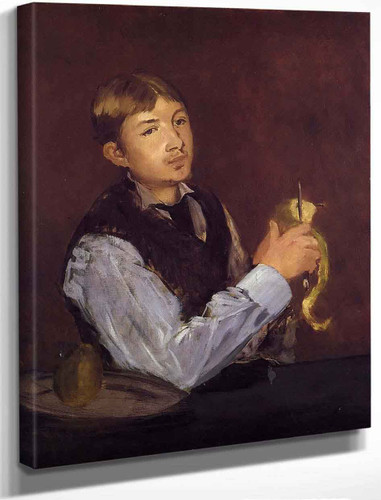 Young Man Peeling A Pear By Edouard Manet By Edouard Manet