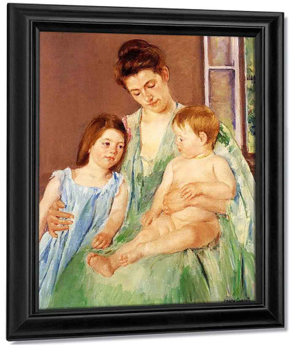 Young Mother And Two Children By Mary Cassatt By Mary Cassatt