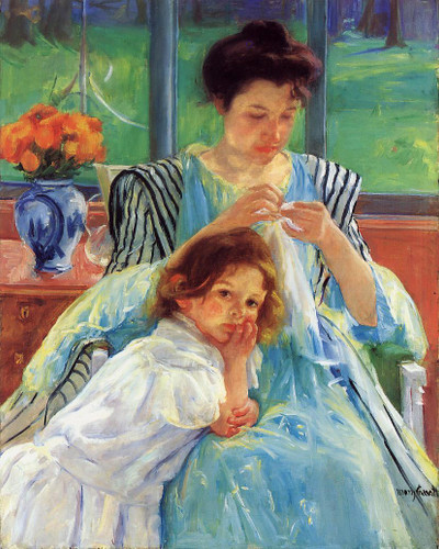 Young Mother By Mary Cassatt By Mary Cassatt