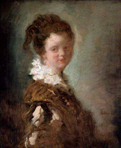 Young Woman By Jean Honore Fragonard By Jean Honore Fragonard