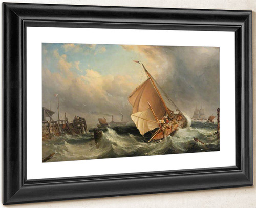 A Barge Off Deal In Stormy Weather By Edward William Cooke, R.A.