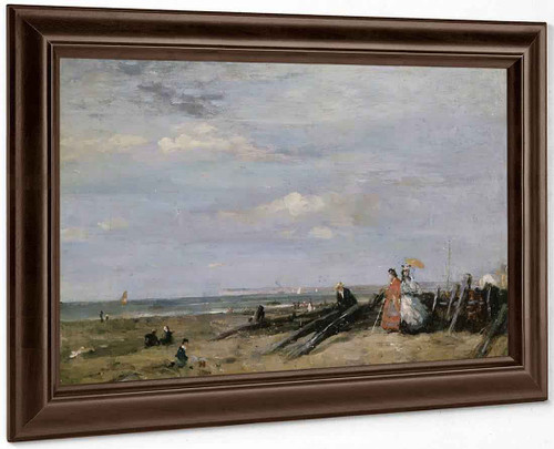 A Beach Scene At Trouville By Eugene Louis Boudin