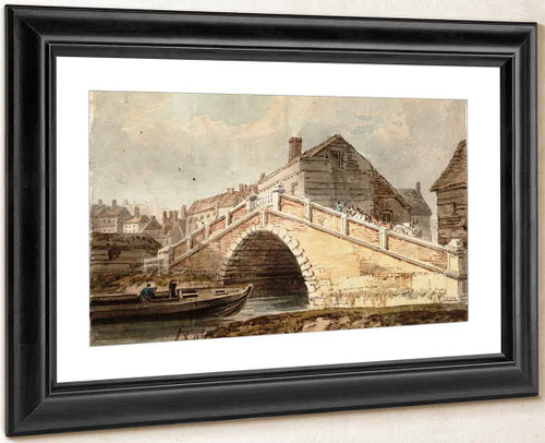 A Bridge At Lewes, Sussex By Joseph Mallord William Turner