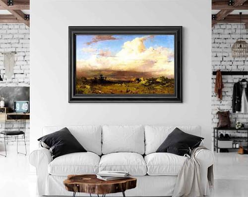 A Brittany Landscape By Frederick Arthur Bridgman