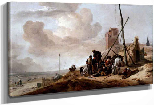 A Coastal Scene By Philips Wouwerman Dutch 1619 1668