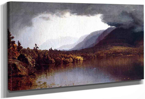 A Coming Storm On Lake George By Sanford Robinson Gifford