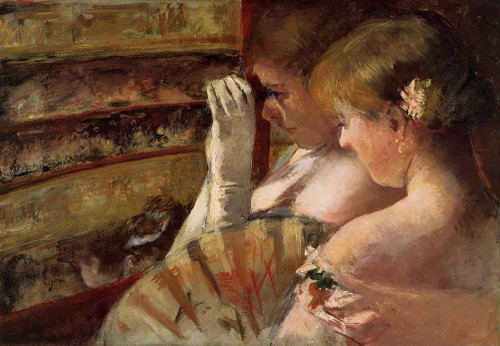 A Corner Of The Loge By Mary Cassatt