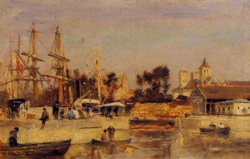 A Corner Of The Port, Caen By Stanislas Lepine