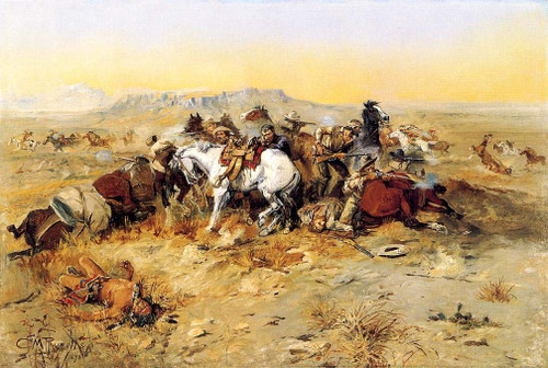 A Desperate Stand By Charles Marion Russell