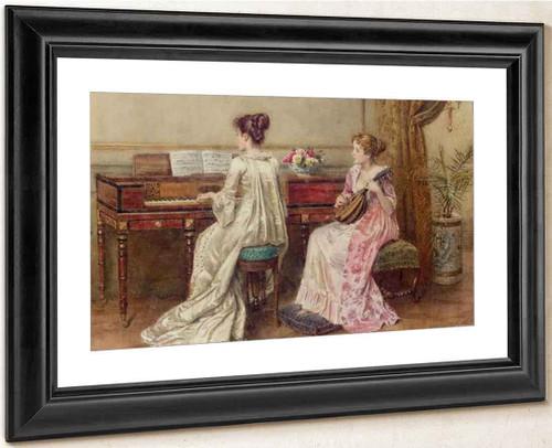 A Duet By George Goodwin Kilburne By George Goodwin Kilburne