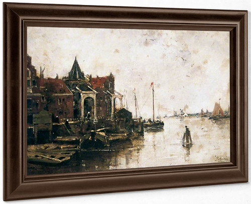 A Dutch Waterway By Jacob Henricus Maris