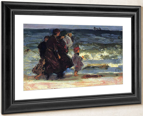 A Family At The Beach By Edward Potthast