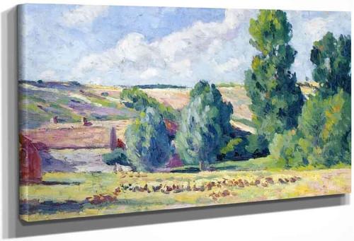 A Farm In Ezeaux By Maximilien Luce By Maximilien Luce