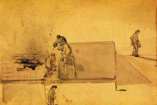 A Fire At Pomfret By James Abbott Mcneill Whistler American 1834 1903