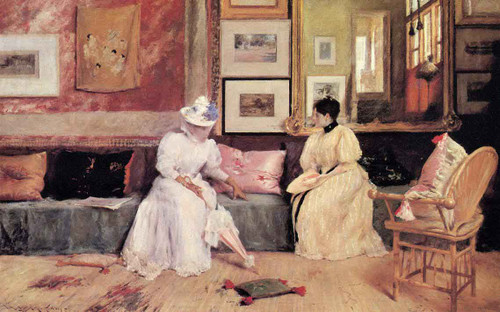 A Friendly Visit By William Merritt Chase