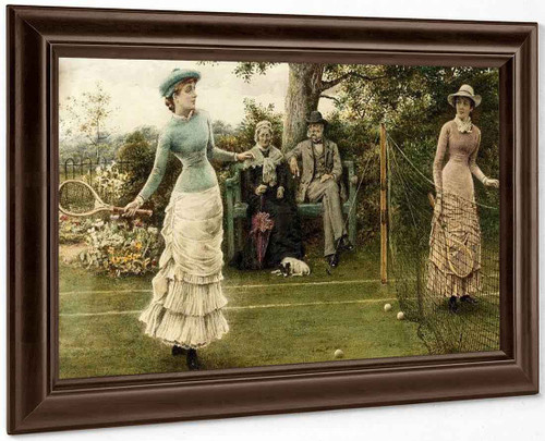 A Game Of Tennis By George Goodwin Kilburne By George Goodwin Kilburne