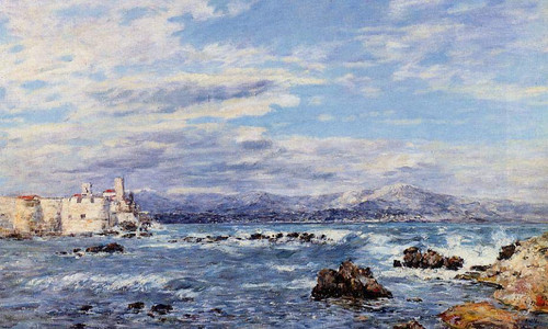 A Gusty Northwest Wind At Antibes By Eugene Louis Boudin