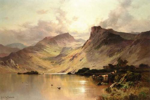 A Highland Loch By Alfred De Breanski, Sr.