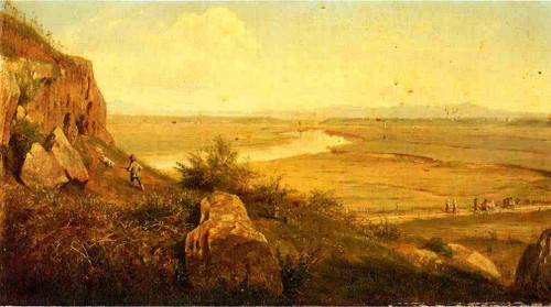 A Hunter In A Landscape By Thomas Worthington Whittredge
