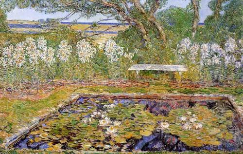 A Long Island Garden By Frederick Childe Hassam