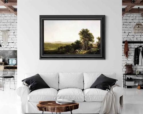 A Lush Summer Landscape By David Johnson