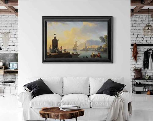 A Mediterranean Port Scene By Claude Joseph Vernet
