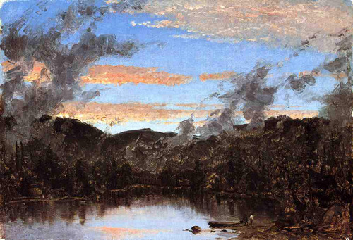A Mist Rising At Sunset In The Catskills By Sanford Robinson Gifford