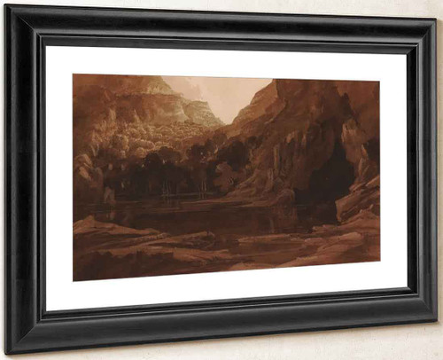 A Mountain Pool And Cave By Francis Danby