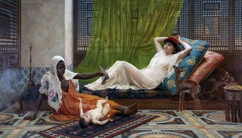 A New Light In The Harem By Frederick Goodall