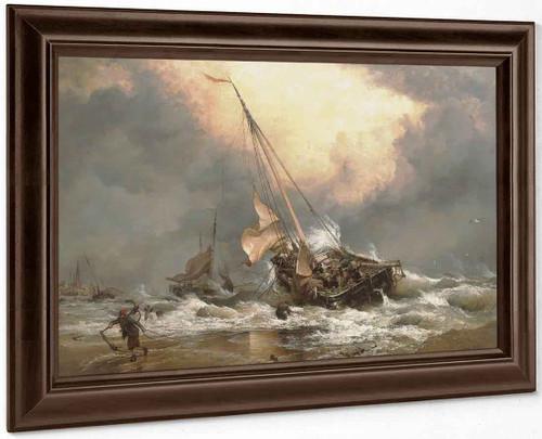 A North Sea Breeze On The Dutch Coast By Edward William Cooke, R.A.