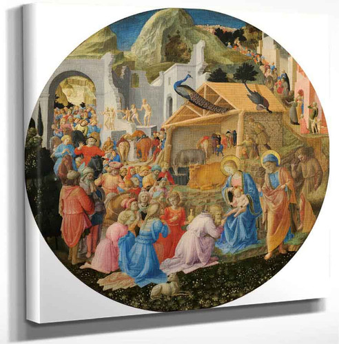 The Adoration Of The Magi By Fra Angelico Art Reproduction