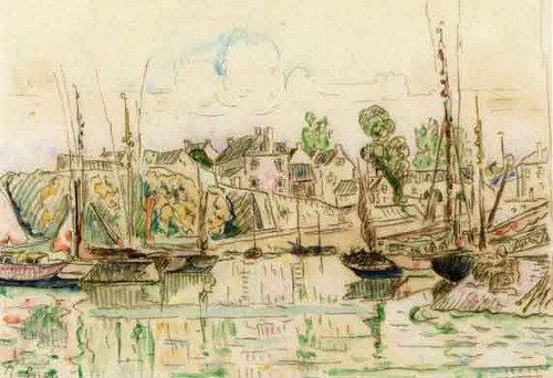 A Port In Brittany By Paul Signac