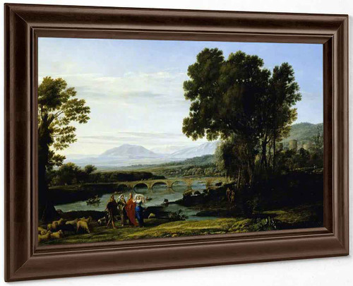 A River Landscape With Jacob And Laban And His Daughters By Claude Lorrain By Claude Lorrain