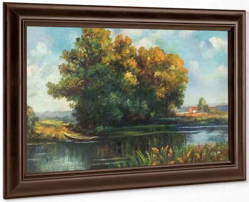 A Riverscape By Thomas Edwin Mostyn