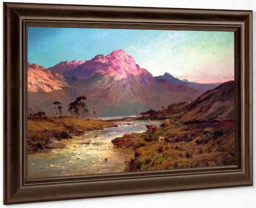 A Rosy Morn, Near Aberdeen By Alfred De Breanski, Sr.