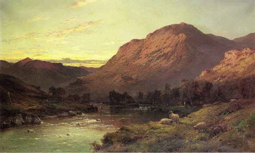 A Salmon River In Scotland By Alfred De Breanski, Sr.