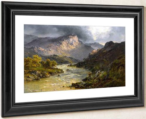 A Salmon Trout Stream, Cader Idris, North Wales By Alfred De Breanski, Sr.