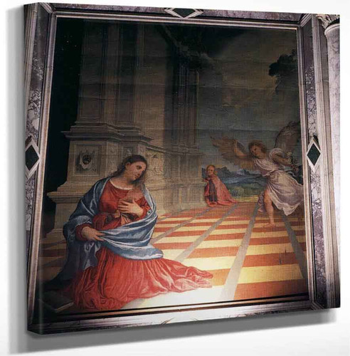 The Annunciation By Titian Art Reproduction