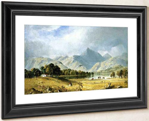 A Sketch Of Derwentwater By Sanford Robinson Gifford