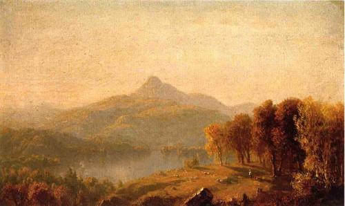 A Sketch Of Mount Chocorua By Sanford Robinson Gifford