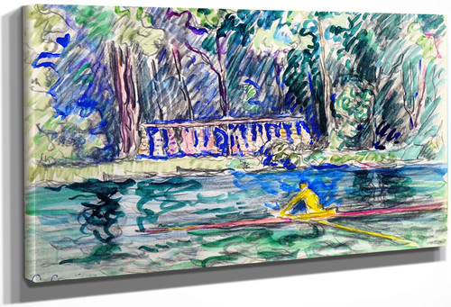 A Skiff At Bois Le Roi By Paul Signac