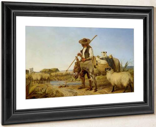 A Spanish Shepherd By Richard Ansdell