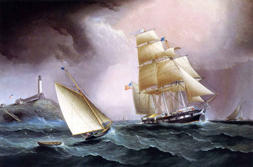 A Square Rigger Off The Isle Of Shoals By James E. Buttersworth