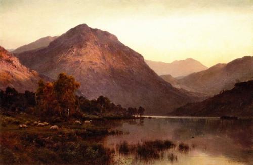 A Still Evening, Inversnaid By Alfred De Breanski, Sr.